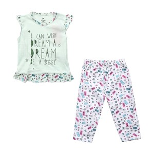 Eten Infant Girls Pyjama Set Short Sleeve Light Blue