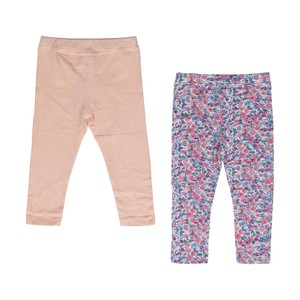 Eten Infants Girls Leggings 2Pcs Pink White Aop 6-24M