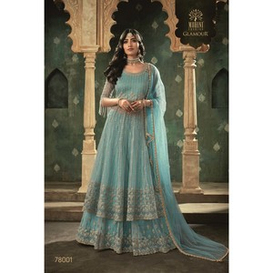 Mohini Ready To Stitch Women's Gown Material With Lehenga 78001