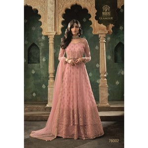 Mohini Ready To Stitch Women's Gown Material With Lehenga 78002