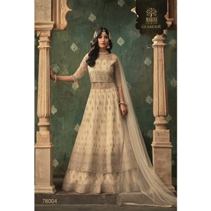 Mohini Ready To Stitch Women's Gown Material With Lehenga 78004