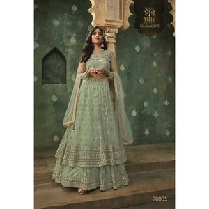 Mohini Ready To Stitch Women's Gown Material With Lehenga 78005