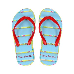 Tom Smith Girl Slipper 681 Red-LightBlue 28-34