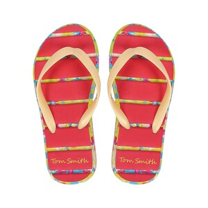 Tom Smith Girl Slipper 681 Yellow-Pink  28-34