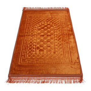 Golden Wheat Embossed Prayer Mat with rachel softness( 80x120cm) Gold