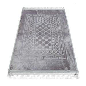 Golden Wheat Embossed Prayer Mat with rachel softness( 80x120cm) Grey