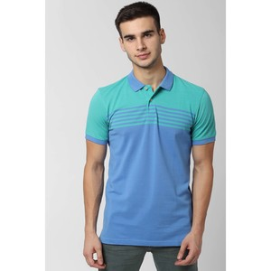 PE Casual Men's Polo T Shirt S/S PCKPCSGFP55102 Medium Blue