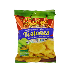 Tropic Max Gluten Free Hot & Spicy Tostones Plantain Snack 57g