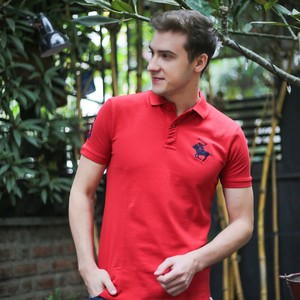 Marco Donateli Men's Polo T Shirt S/S MDP10 Ribbon Red