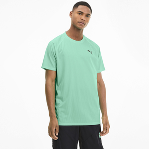 Puma Men's Round Neck T-Shirt Short Sleeve 51838910 Green Glimmer