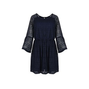 Eten Women's Dress 3/4 Long Sleeve 38548 Navy