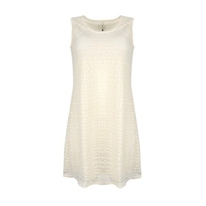 Eten Women's Dress 3/4 Sleeveless 7832DD Cream