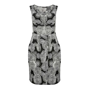 Eten Women's Dress 3/4 Sleeveless DD1702 Black-White Print
