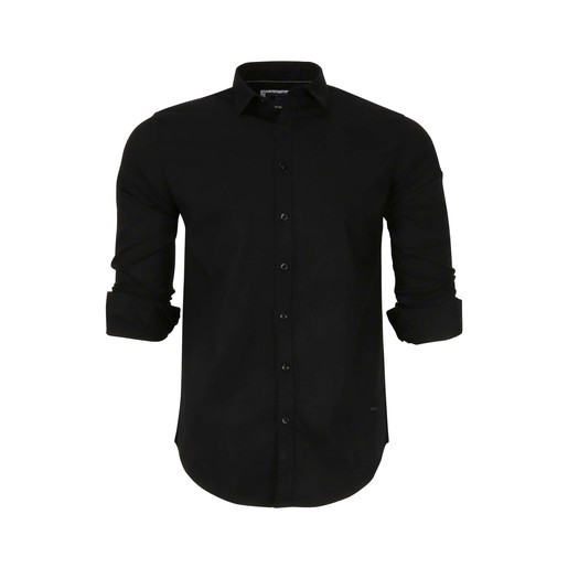 Debackers Men's Casual Shirt Long Sleeve 2025 Black Meduim