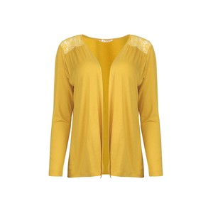 Eten Women's Bolero Long Sleeve SHW601 Mustard