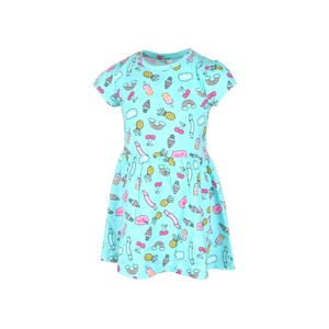Eten Girls Dress Short Sleeve GNC-14 Green 2-8Y