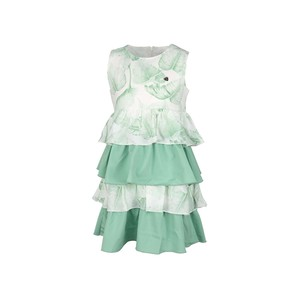 Cortigiani Girls Dress Sleeve Less JHG-37 Green 2-8Y