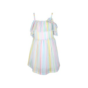 Cortigiani Girls Dress Sleeve Less JHG-42 Off White 2-8 Y
