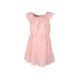 Eten Girls Dress Cap Sleeve MFG-14 Peach 2-8Y