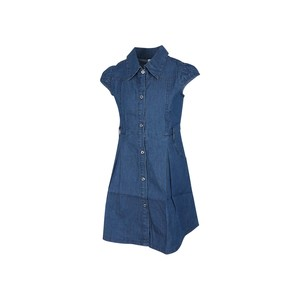 Eten Girls Dress Short Sleeve MFG-24 Blue 2-8Y