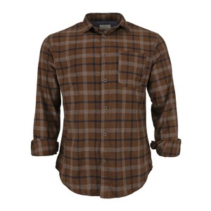 Cortigiani Men's Casual Shirt Long Sleeve CT169 Brown