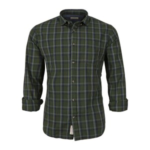 Cortigiani Men's Casual Shirt Long Sleeve CT161 Olive