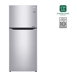 LG Double Door Refrigerator GN-B492SLCL 427LTR, Smart Inverter Compressor, Pull-out Tray, Big Size Veggie Box
