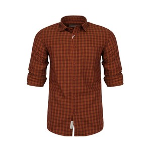 Marco Donateli Men's Casual Shirt Long Sleeve 347702 Orange