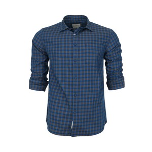 Marco Donateli Men's Casual Shirt Long Sleeve 347701 Peacock Blue