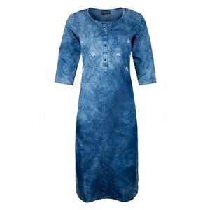 Khwaish Women's Denim Kurti 3/4 Sleeve DNM-02