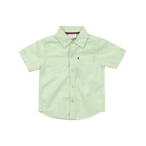 Debackers Infants Boys Linen Shirt Short Sleeve Green 6M-24M