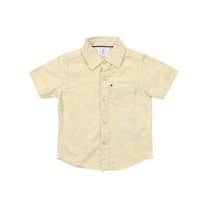 Debackers Infants Boys Linen Shirt Short Sleeve Yellow 6M-24M