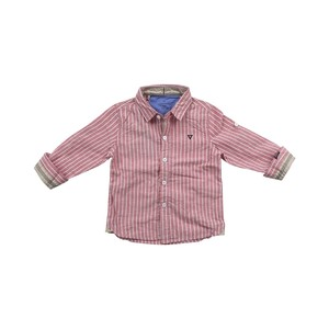 Cortigiani Infants Boys Shirt Long Sleeve Red 6M-24M