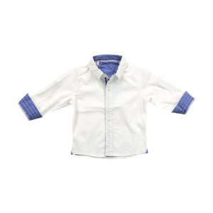 Cortigiani Infants Boys Shirt Long Sleeve White 6M-24M