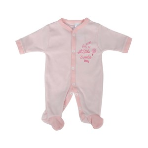 Cortigiani Infant's Girls Cotton Romper Long Sleeve Light Pink