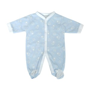 Cortigiani Infant's Boys Cotton Romper Long Sleeve Light Blue
