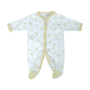 Cortigiani Infant's Boys Cotton Romper Long Sleeve Off-White