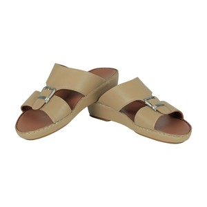 Cortigiani Men's Leather Arabic Sandal M-2138 Beige