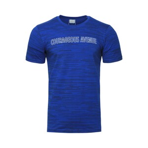 Cortigiani Men's Round Neck T-Shirt Short Sleeve BSR008 Blue