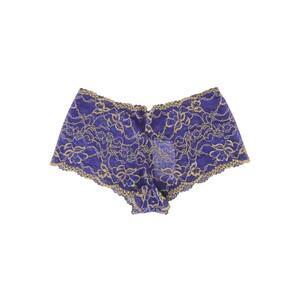 Cortigiani Women's Lace Boxer Brief 23-19006 Blue