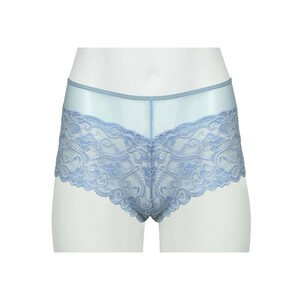 Cortigiani Women's Lace Boxer Short 23-19014 Blue