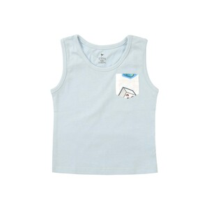 Eten Infants Boys T-Shirt Round-Neck Sleeve Less Light Blue 6M-24M