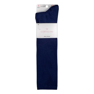 Cortigiani Women's Long Socks CSXL-02 Blue Free Size