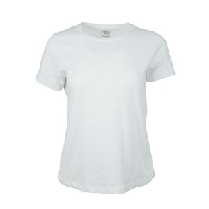 Reo Women's Basic T-Shirt B0W004B Short Sleeve White