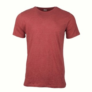 Reo Men's Round Neck Short Sleeve Slim Fit T-Shirt D9M001E Red