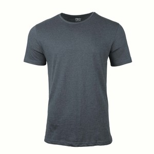 Reo Men's Round Neck Short Sleeve Slim Fit T-Shirt D9M001H Navy