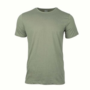 Reo Men's Round Neck Short Sleeve Slim Fit T-Shirt D9M001I Green