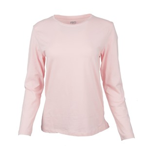 Reo Women's Basic T-Shirt D9W005D Long Sleeve Pink
