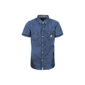 Ruff Boys Denim Shirt Short Sleeve SK05746L Blue 10-16Y