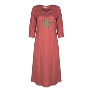 Eten Women's Long Kurti Long Sleeve PCK121 Red